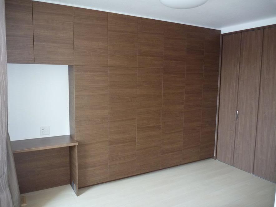 タカケンの施工実績画像:壁一面の収納